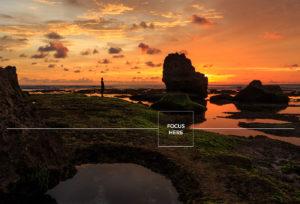 landscape photography focus