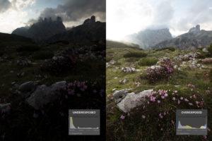 landscape photography histogram