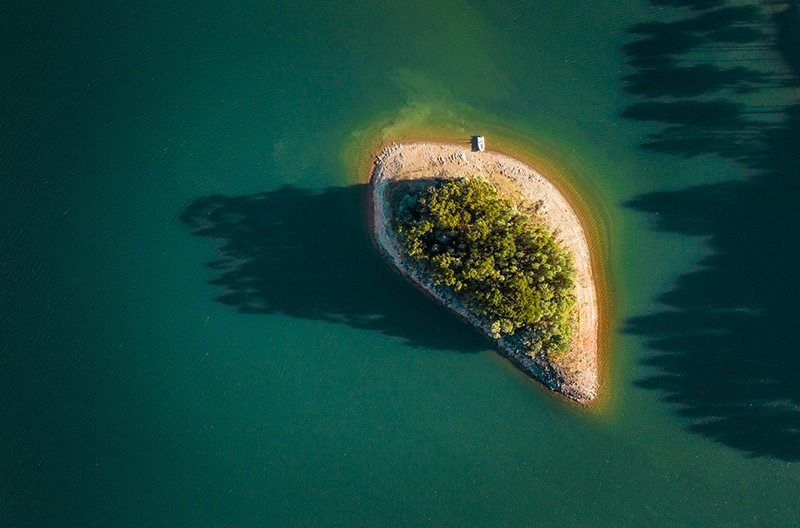drone photography isolation