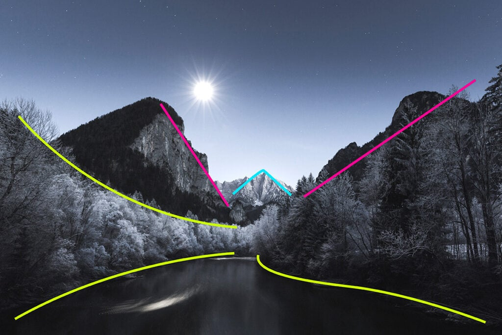 leading line in landscape photography